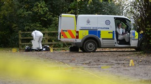 Police investigate the park where Leanne McKie's body was found in September