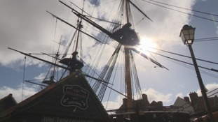 HMS Trincomalee, based at The National Museum of the Royal Navy in Hartlepool.