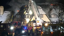 Firefighters battling thatch fire at a Hampshire hotel