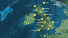 Many places will stay dry with bright or sunny spells