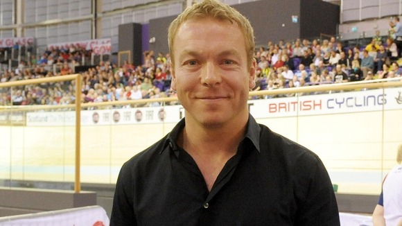 Sir Chris Hoy during the UCI Track Cycling World Cup.