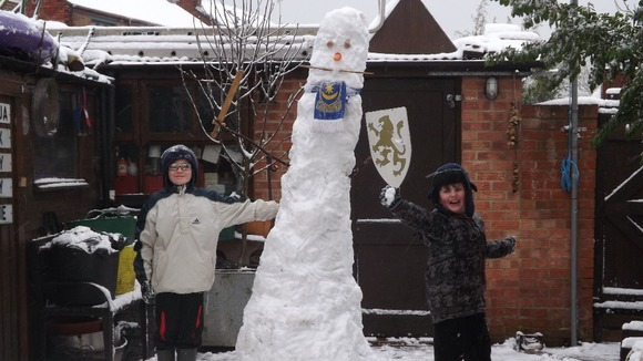 &#x27;Snowy&#x27; the snowman in Portsmouth