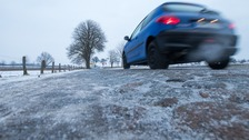 Ice warning in place across the South West