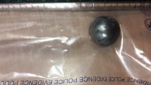The metal ball that injured a paramedic
