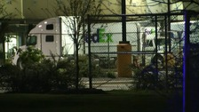 One FedEx employee has been left with non-life-threatening injuries from the blast.