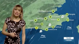 Holly has forecast for east of region