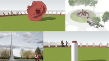 The four proposed designs for the new WW1 memorial