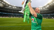 Ireland captain Rory Best with the Six Nations trophy