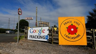 pic of fracking protest