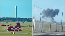 Eyewitnesses saw 'fireball' and 'smoke' following Red Arrows aircraft crash