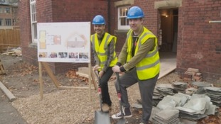 Kaiser Chiefs break the ground at the site in November 2017