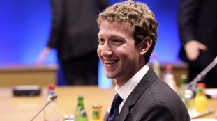 Mark Zuckerberg smiling at a conference