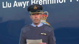 Captain Nick Tucker-Lowe confirmed the death at a press conference outside the airbase.