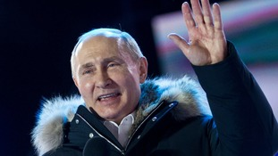 Vladimir Putin won 76% of the vote in Sunday's election.