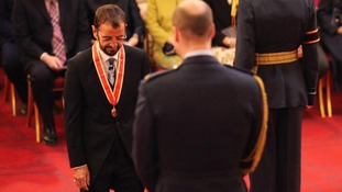 Arise Sir Ringo Starr, the latest knight of the realm.