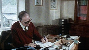 Former Dalesman editor Bill Mitchell at his desk