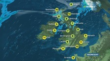 Dry across much of England and Wales with sunny spells