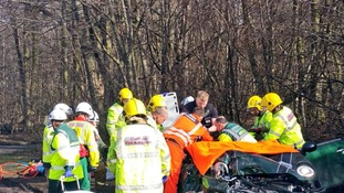 North West Ambulance and Cumbria Fire Service at the scene