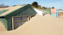 Abersoch beach hut owners face big dig after sand storms