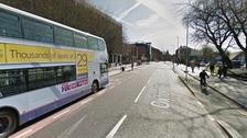 Bus lane on Oxford Road.