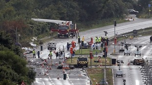 Along with the 11 fatalities, 16 people were injured when the jet plummeted onto the A27.