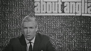 John Bacon reading the news on About Anglia in 1968.