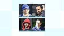 Basil Assaf, 26, Elliott Hyams, 26, James Roden, 25, and Jaikishen Patel, 26,