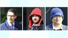 Basil Assaf, 26, Elliott Hyams, 26, James Roden, 25, and Jaikishen Patel, 26,
