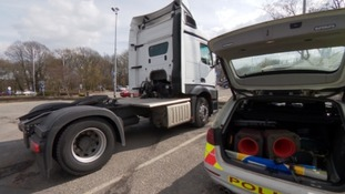 Police crack down on dangerous drivers with new unmarked HGV cab