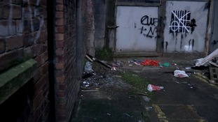 Heroin users inject in Glasgow's alleys and backstreets.