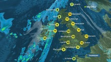 A dry day for most with some sunny spells