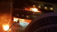 Crews tackle major fire at Dublin hotel complex