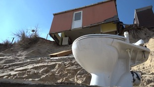 Some of the homes have already started to collapse.