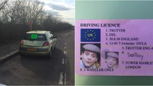 The driver was stopped at Terrington near King's Lynn.