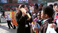 Global Teacher Prize winner celebrated on return to school