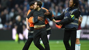 West Ham issue lifetime bans to five supporters for invading the pitch against Burnley