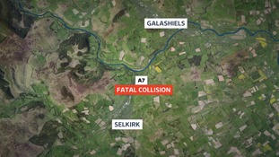 The man's bike left the road between Selkirk and Galashiels on Tuesday