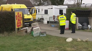 Police and RSPCA officers descended on the vets.