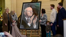 Martin McGuinness portrait unveiled at Stormont