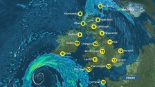 A dry and bright day across much of England and Wales