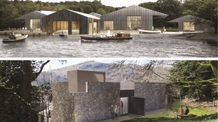 Artist impressions of plans for the Windermere Jetty and Wordsworth Museum