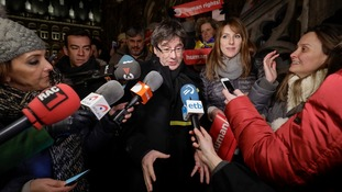 Fugitive ex-president of Catalan Carles Puigdemont charged with rebellion