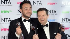 Ant and Dec were the biggest winners at the 2018 National Television Awards.