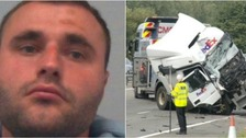 Lorry driver jailed over M1 crash which killed eight people