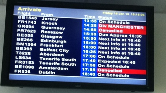 Cancellations at East Midlands Airport 