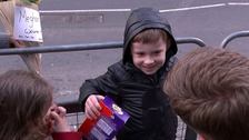 Harry left empty handed as boy holds on to give Easter egg gift