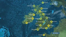 Weather: Cloudy and wet start on mainly grey day