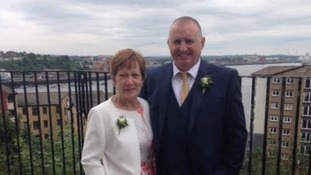 Susan Ross with her partner Paul Appleby.