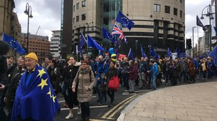 Thousands join one of biggest anti-Brexit rallies in north