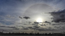 A sun halo seen at Graveley in Hertfordshire